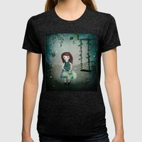 Friends Of The Night Womens Fitted Tee Tri-Black SMALL