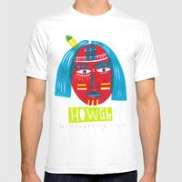 H O W G H  Mens Fitted Tee White SMALL