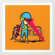 Part Time Job - Road Construction Art Print
