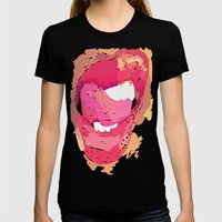 Vectored Narcissism Womens Fitted Tee Black SMALL