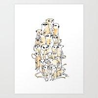 Wild Family Series - Meerkat Art Print