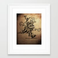 Steam powered Pirate Framed Art Print