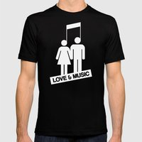Love And Music Mens Fitted Tee Black SMALL