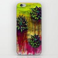 Electric Water Lilies  iPhone & iPod Skin