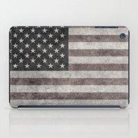 American flag - retro style desaturated look iPad Case
