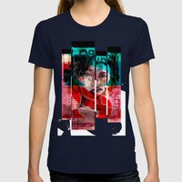 SENSUAL EVERAFTER Womens Fitted Tee Navy SMALL