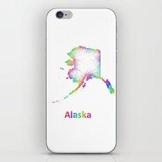 Rainbow Alaska map iPhone & iPod Skin