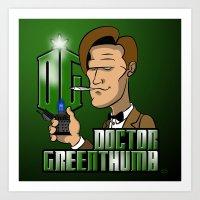 Doctor Greenthumb Art Print
