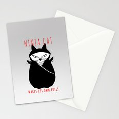 Ninja Cat Stationery Cards