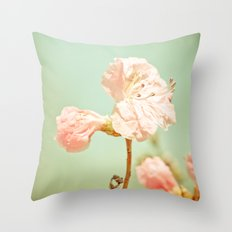 Aprils' Pink blossom Throw Pillow