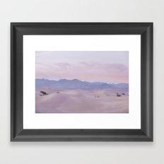 Pink Desert Sunset Framed Art Print