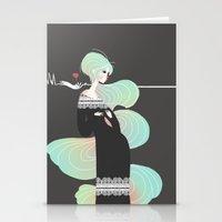 Love in Black Stationery Cards