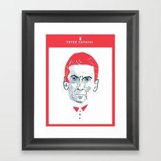 Faces of Doctor Who Framed Art Print