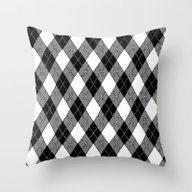 Throw Pillow featuring Argyle 6 by Whiteflash