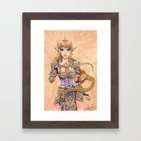 Hyrule Valor Framed Art Print