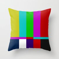 Color Glitch Throw Pillow