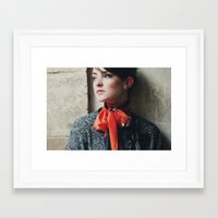 Snowscape Portrait Framed Art Print