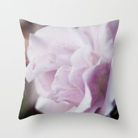 The lilac rose Throw Pillow