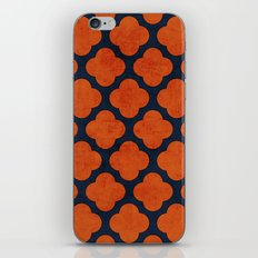 navy and orange clover iPhone & iPod Skin