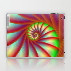 Staircase Spiral in Orange Blue and Green Laptop & iPad Skin