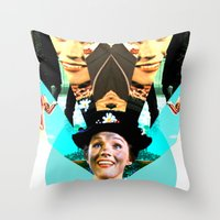 Molly Poppins Throw Pillow