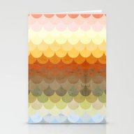Stationery Cards featuring Half Circles Waves Color by Danny Ivan