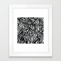 Back To Black 1  Framed Art Print