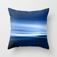 Blue Silence Throw Pillow