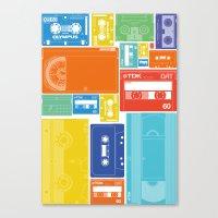 Cassette Heaven Canvas Print