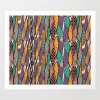 Mikeno Pattern Art Print