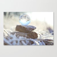 Glass Ball & Frost Canvas Print