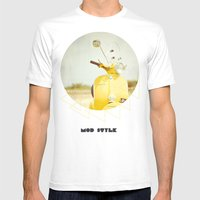 Mod Style in Yellow Mens Fitted Tee White SMALL