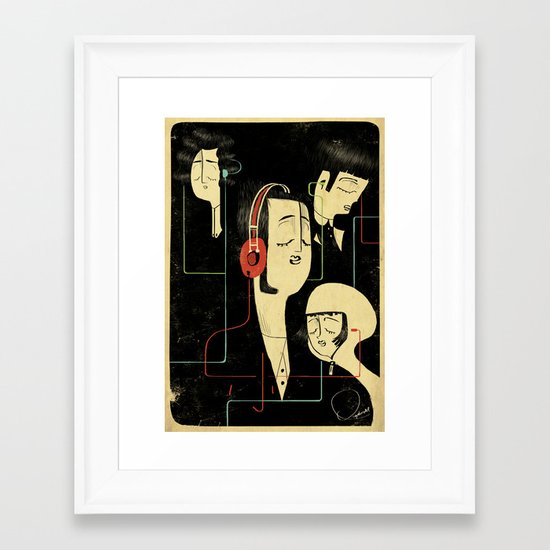乐 Music Lovers Framed Art Print