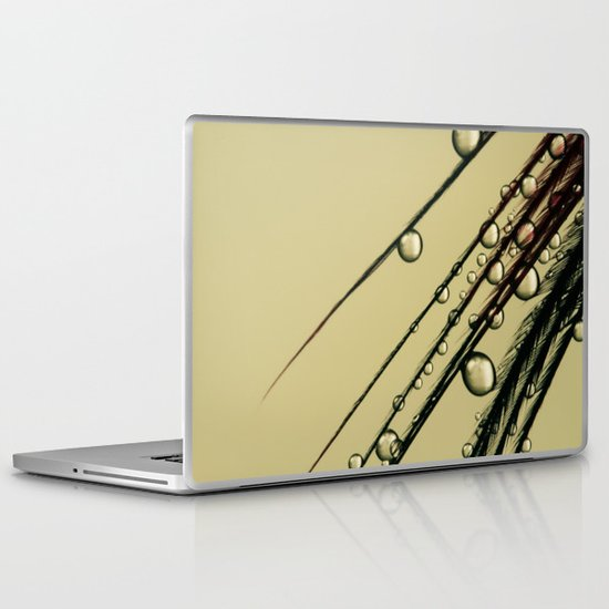 Charcoal Feather Drops II Laptop & iPad Skin