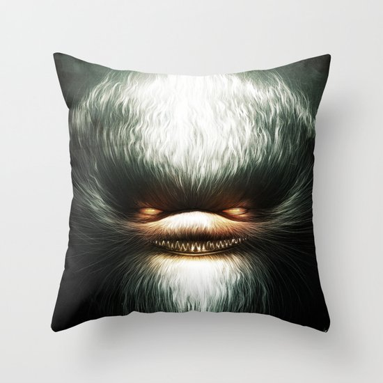 Little Evil Throw Pillow