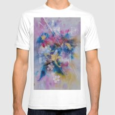 Golden Harvest Painting SMALL White Mens Fitted Tee