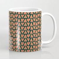 Desert Triangles - Geometric Orange and Blue Pattern Mug