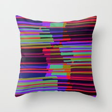 Neon stripes. Throw Pillow