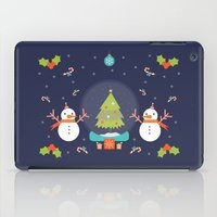 Day 01/25 Advent - Frosty meets his match iPad Case