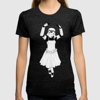 Ballerinatrooper Womens Fitted Tee Tri-Black SMALL