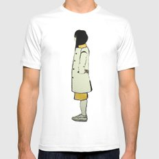 The Coat White Mens Fitted Tee SMALL