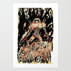 Dogs of Mars pin-up Art Print