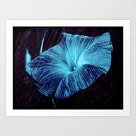 Blue Striped Glory Art Print