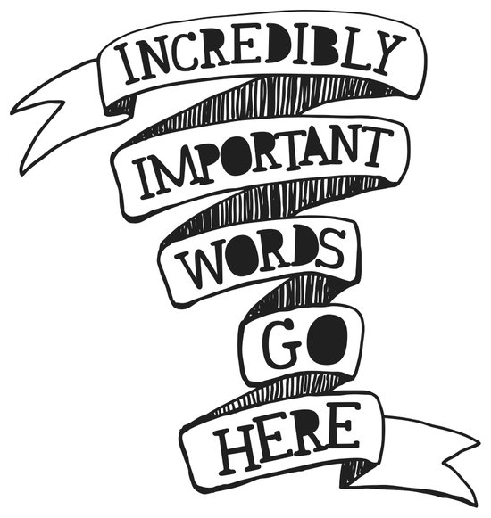 Important words Art Print