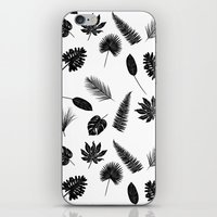 Botanical study - Fern Leaves pattern iPhone & iPod Skin