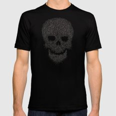 Yellow Skull Mens Fitted Tee SMALL Black