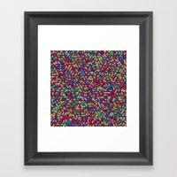 Checks Cubed Framed Art Print
