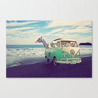 Canvas Prints featuring NEVER STOP EXPLORING THE BEACH by Monika Strigel