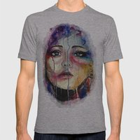 Colourful Tears Mens Fitted Tee Athletic Grey SMALL