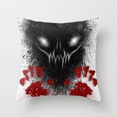 Bloody Hands Throw Pillow